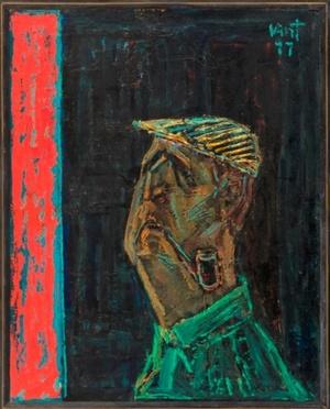Rašytojo R. Lankausko portretas