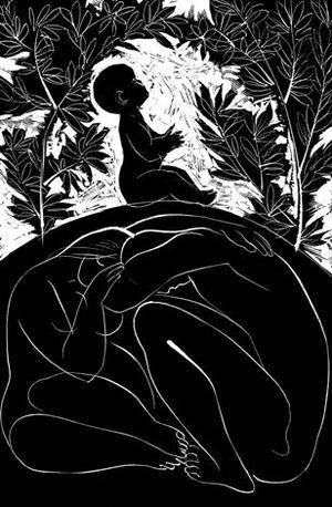 """Iliustracija Eduardo Mieželaičio eilėraščių rinkiniui """"Žmogus"""""""