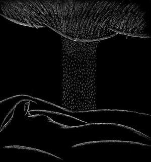 """Iliustracija Eduardo Mieželaičio eilėraščių rinkiniui """"Aviaetiudai"""""""