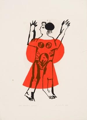 Raudona suknelė I