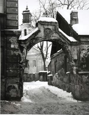 Vartai į Šv. Baltramiejaus bažnyčios kiemą. Vilnius I