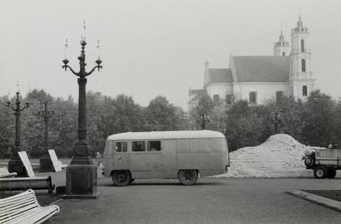 Vilnius. Lukiškės square (here was a monument for Lenin)