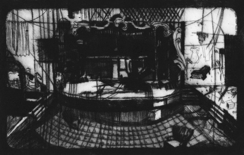 """Abandoned theater in Detroit (From cycle """"Methods of silent talkingi"""")"""