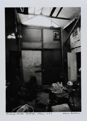 Mindaugo Navako in his studio. Vilnius