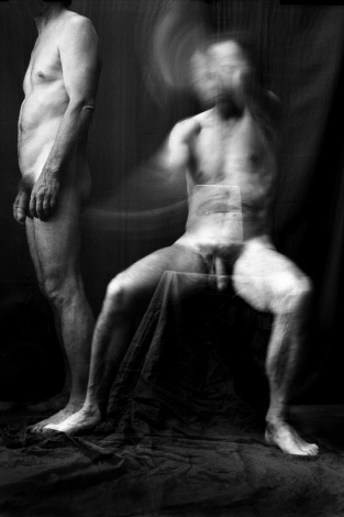 """From cycle """"Woman about Men"""". A series of """" A Man and the drapery"""" No. 13"""