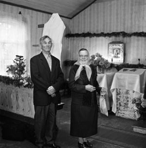 Stanislava And Venalijus Novokovai At Bobriškis Praying House Of Old Believers.