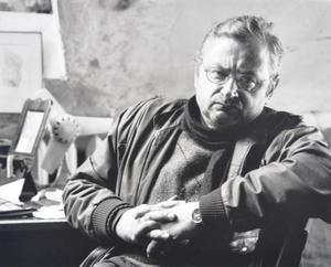 Arūnas Vaitkūnas in his studio. Kaunas