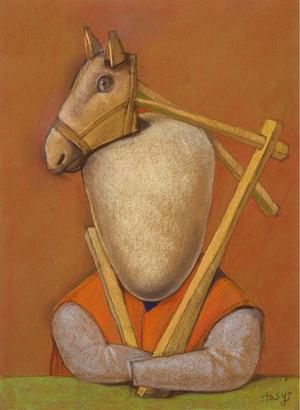 Arklys ant galvos