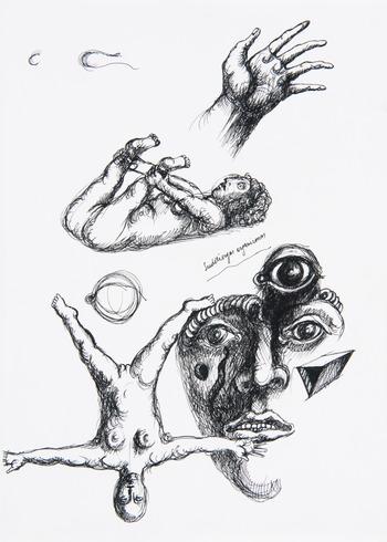 """Iš ciklo """"Posėdžių piešiniai, eskizai"""""""