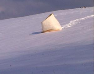 Nuo pat pradžių. Sniego skulptūra