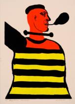 Grafikos reprodukcijos: Mikalojus Povilas Vilutis, Kapitonas Sanseckis, 1977, giclée, MO muziejus, 2018